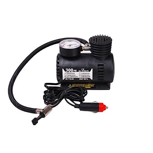 Iusun 12v Car Electric Mini Compact Compressor Pump Bike Tyre Air Inflator 300PSI Maximum Pressure
