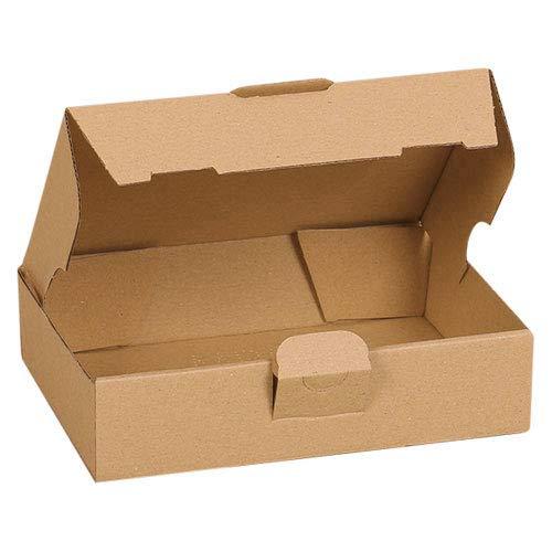 100x Maxibriefkartons Versandkartons Faltschachtel Faltkarton Maxibrief Karton 180 x 130 x 45, Braun, MB-2