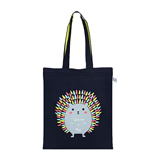 EcoRight Canvas Tote Bag for Women, Eco-friendly Handbags for Women, Girls | Hug me Porcupine | 0603G03