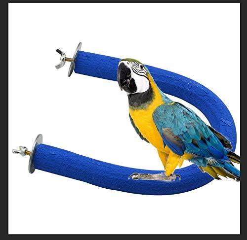Jkshop Bird Perch U-Shape Award mart Natural Ch Parrot Toys Cage