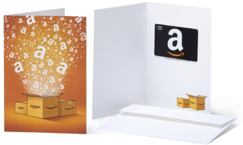 Amazon.com $25 Gift Card in a Greeting Card (Amazon Surprise Box Design)