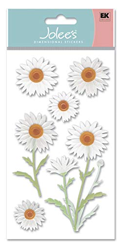 Jolee's Boutique 0015586701302 (Jolly Boutique) 3D Sticker Daisies-Vellum JG VELJLG003, Other