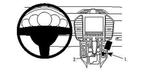 Preisvergleich Produktbild Brodit 854538 ProClip Halterung,  schwarz