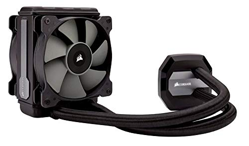 Corsair Hydro H80i v2 All-in-One Liquid CPU Cooler Sistema di Raffreddamento a Liquido, Radiatore da 120 mm, Ventola Singola SP120 PWM, 600 - 1700 RPM, Nero
