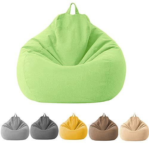 KOET Sitzsackbezug Baumwolle Leinen Sitzsack Stühle/Sofa/Liegestuhl Bezug ohne Füllstoff für Kinder & Erwachsene Bequeme Lounge Gaming Stuhl Sitzsack für Spielzimmer Schlafzimmer