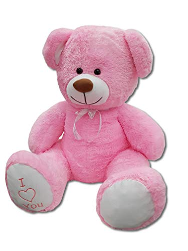XXL Teddybär Plüsch Kuschel Stoff Plüsch Riesen Teddy Bär Groß 160cm (Rosa)