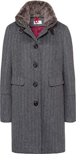 BRAX Damen Style Milano Outdoor Herringbone Mantel, Grey, (Herstellergröße: 38)