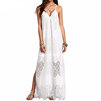 Muranba Womens Dresses Lace Boho Long Dress Lady Beach Summer Sundrss Maxi Dress