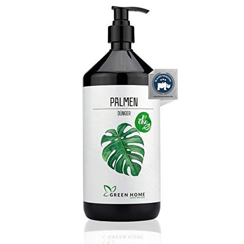 GREEN HOME LOVE NATURE®️ 1L Palmendünger flüssig mit hohem Nährstoffgehalt - nachhaltiger Dünger für Palmen einfach zu dosieren - Made in Germany