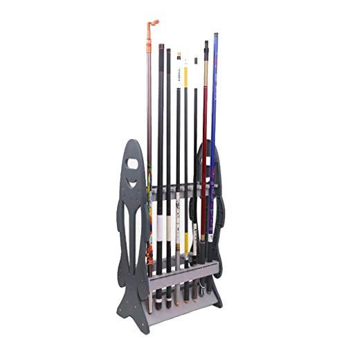 Ppy778 Angelrute-Ausstellungsstand-Lagerregal-Haushaltsfischereiausstellungsstand-Präsentationsständer-Lager stark (Color : Gray, Size : 44 * 24 * 80.5CM)