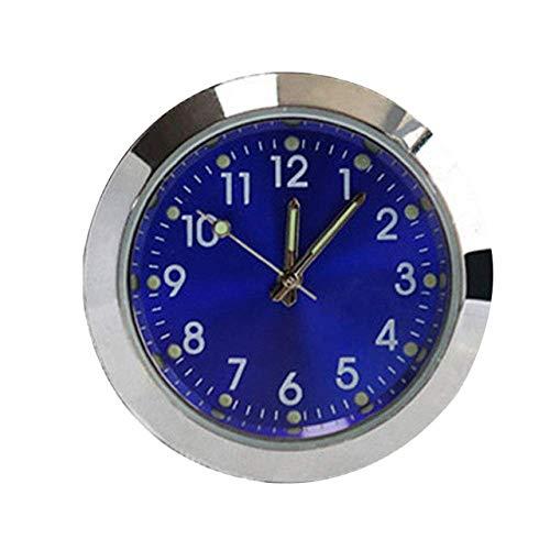Taschen- und Armbanduhr Quarz-Taktgeber Zubehör Mini Miniuhr Luminous Dekor Auto-Duftstoff Analog (Color : White)