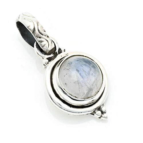 Colgante de plata 925 con Piedra de luna (No: MAH 143-04)