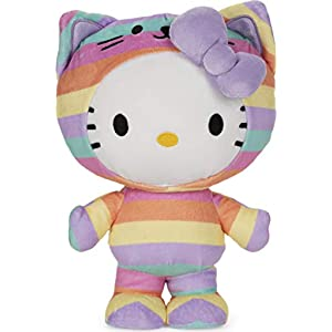 "GUND Sanrio Hello Kitty Rainbow Outfit Plush Stuffed Animal, 9.5"" - 41FTOxWK7EL - GUND Sanrio Hello Kitty Rainbow Outfit Plush Stuffed Animal, 9.5″"