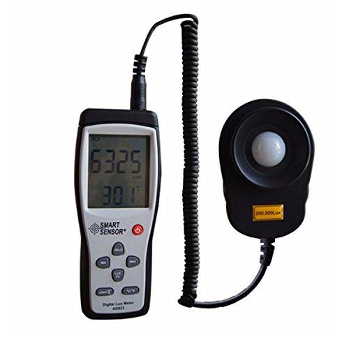 liuchenmaoyi Metalldickenzähler Digital Luxmeter Digital Lux Meter Photometer Illuminometer Spektrometer Spektralphotometer Hohe Präzision Belichtungsmesser 200,000lux AS823 Dickenzähler