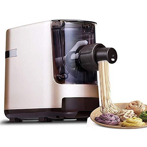 LIMEI-ZEN Macchina per Pasta di Pasta Macchina Automatica tagliatelle domestiche Macchina Macchina Intelligente improntatrice Multifunzione elettrica pressatrice for Cucina Pasta Cutter (Colore: Oro,