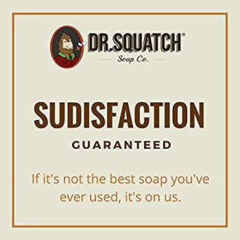 Dr. Squatch Pine Tar Soap – Mens Soap with Natural Woodsy Scent and Skin Scrub Exfoliation – Black Soap Bar Handmade ...