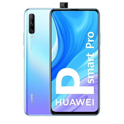 HUAWEI P Smart Pro - Smartphone con Pantalla Ultra FullView FHD+ de 6.59' (6GB de RAM + 128GB de ROM, Triple Cámara IA de 48MP, 4000 mAh, Android 9) Color Breathing Crystal