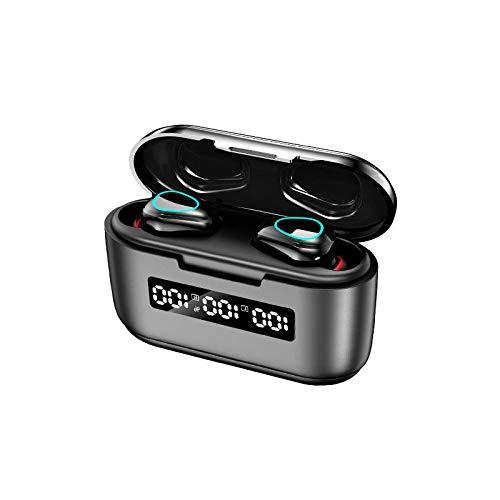 tubc Auricolare Bluetooth Dual-in-Ear 5.1 Wireless, Mini Auricolare Dual-in-Ear Mini Invisibile 5.1 Standby A Lungo Termine [Colore: Nero]
