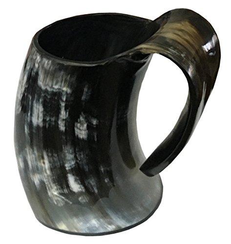 Handicrafts Home Real Hecho a Mano Cuerno Vikingo para Beber Mug Vasos Cerveza Ale Copa De Vino Juego de Tronos Tankard Mead Medieval Arpillera Regalo Vaso Cuerno de Buey Vaso Vasijas