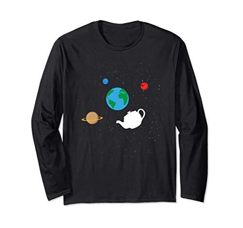 Bertrand Russell's Teekanne in unserem Sonnensystem Langarmshirt