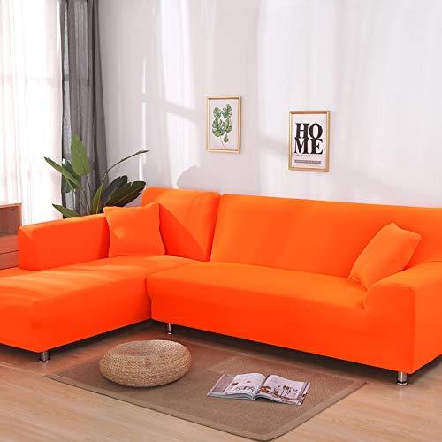 Fundas elásticas de Color sólido, Funda de sofá, sofá elástico, Toalla, Fundas de sofá de Esquina para Sala de Estar A21, 3 plazas