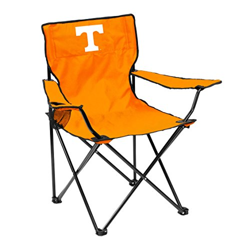Logo Brands NCAA Tennessee Volunteers Unisex Adult Quad Chair with Single Cup Holder, Orange, One Size