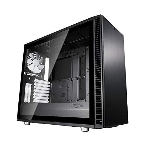 Fractal Design Define S2 Black, Tempered Glass, PC Gehäuse (Midi Tower mit Seitenteil aus gehärtetem Glas) Case Modding für (High End) Gaming PC, schwarz