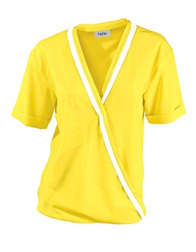 Heine Damen-Bluse Georgettebluse Mehrfarbig Größe 40