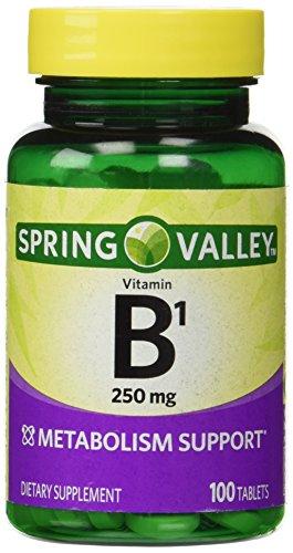 Spring Valley Natural Metabolism Support B1 100 Tablets Brickseek