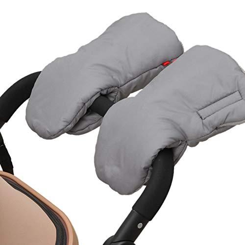 Lopbinte Winter Kinderwagen Handschuhe Plus Samt Winddicht Regen Abdeckung Kalt Warme Handschuhe Schlaf Sack Kissen Handschuhe Handschuhe Kinderwagen Zubeh?r Grau