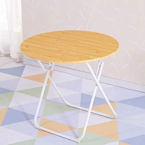 DNSJB - Mesa plegable para salón o restaurante, mesa redonda portátil al aire libre (color: B, tamaño: 70 x 70)