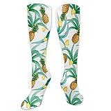 Calcetines de pollo, inspirados en la botánica tradicional Luau Party Funky Polinesia, calcetines divertidos para mujer, calcetines de algodón para mujer