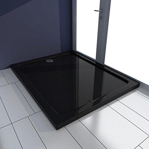 Geniet van winkelen met Douchebak rechthoekig 80x100 cm ABS zwart