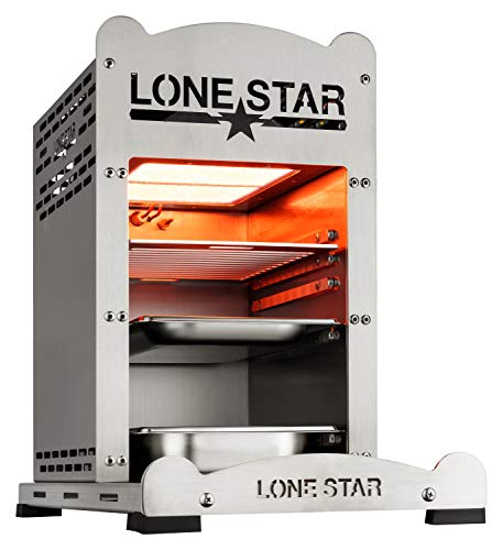 Lone Star 800 Grad Hochtemperaturgrill, Silber