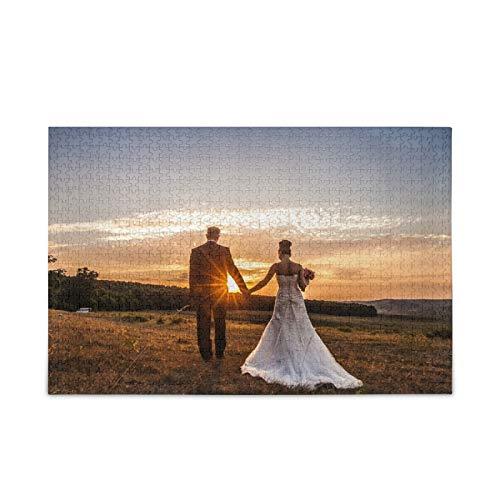 Mnsruu Rompecabezas de Fotos Personalizado Puzzle 1000 Piezas Personalizada Foto Regalo Puzzle para Navidad, Día de San Valentín, Acción de Gracias, Cumpleaños, Boda