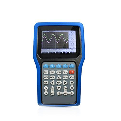 HEQIE-YONGP Osciloscopio Digital 3 Canal 5 0mhz Osciloscopio de Mano JDS3022E 20m Generador de señal + Grabadora de Puertos Serie