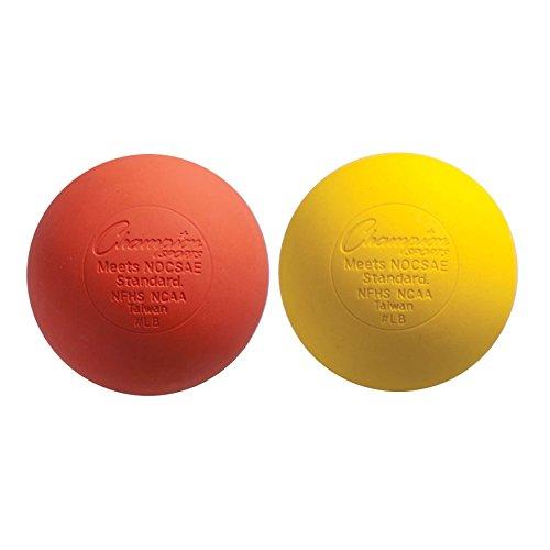 Champion Sports LacrosseBalls (2-Pack) Orange Yellow