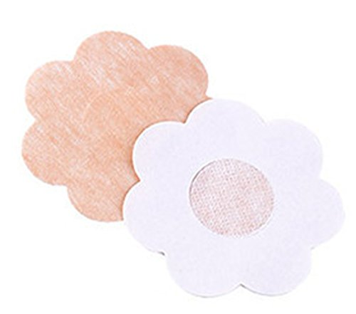 5 Paar Nipple-Cover - Brustwarzenabdeckung - Blume/Flower - hautfarben Blickdicht