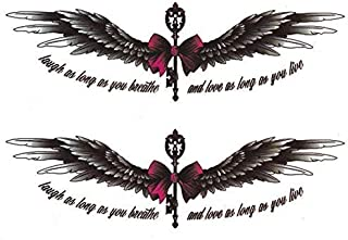 Waterproof flower bow wings stickers long-lasting half-arm back wings Tattoo stickers