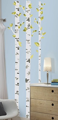 RoomMates RMK2662GM Birch Trees Peel And Stick Giant Wall Decals Multicolor