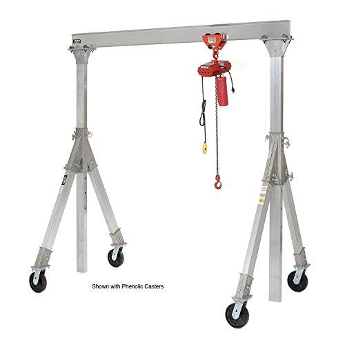 Check Out This Vestil Aluminum Gantry Crane AHA-15-12-12-PNU Adj. Ht. Pneumatic Casters 1500 Lb