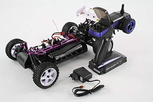 RC Auto kaufen Buggy Bild 5: HSP Buggy XSTR Rot 1:10 4WD RTR 94107/10704 | Fahrfertiges 1:10 Offroad RC-Car | 2.4 Ghz Sender | Ladegerät mit 0,8A Ladestrom | Fahrakku | Fahrtregler 45A | Allradantrieb | Länge ca. 370mm | Breite ca. 245mm | Höhe ca. 130mm | Radstand ca. 275mm*