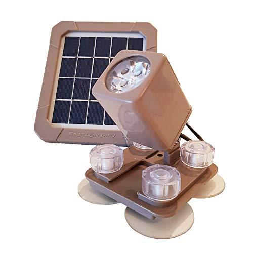 Proyector subacuático que funciona con energía solar AQUAHEX 60X, LED blanco cálido, para estanque de jardín al aire libre Patio Patio Gazebo Piscina con fuente