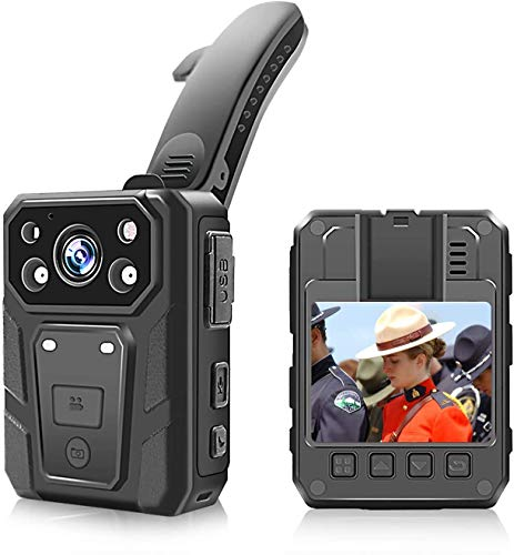 Police Body Camera, 1080p HD Body Worn Camera with 2 Inch Display, Night Vision, 3600w Pixels,...