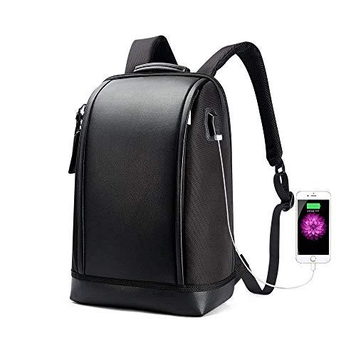 Notizbuchtaschen 15,6 Zoll Laptop Rucksack Invisible Water Bottle Pocket Anti-Theft Laptop-Rucksack USB Charging Port (Schwarz).
