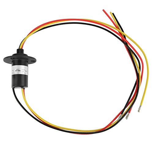 Anillo colector de 3 cables, anillo colector de generador de viento antipolvo, mini anti-bloqueo de desgaste para -30 ℃ ~ 80 ℃ 0-85% Rh 0-600V 15A
