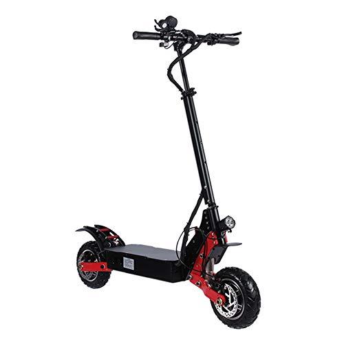 41FTUr 1UoL - OUY Elektroroller 80 Kilometer weiträumige bewegliches Klapp-Design Commuting Motorroller for Frauen und Männer Erwachsener Elektroroller (Color : Black, Size : 52V/35A)