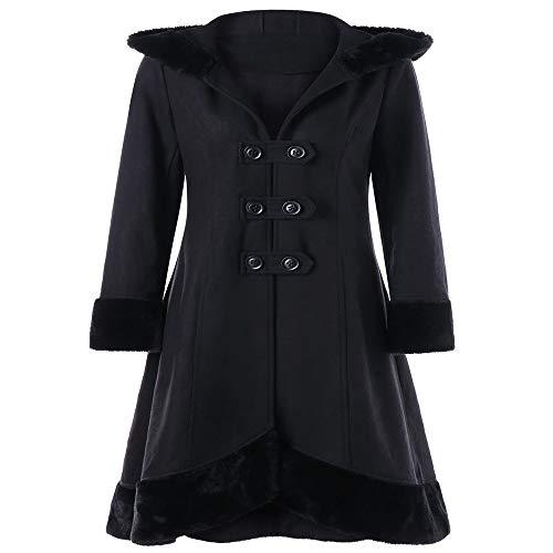 Mr.BaoLong&Miss.GO Explosion Stil zweireihig großen Pelzkragen Mantel mit Kapuze Wollmantel Frauen