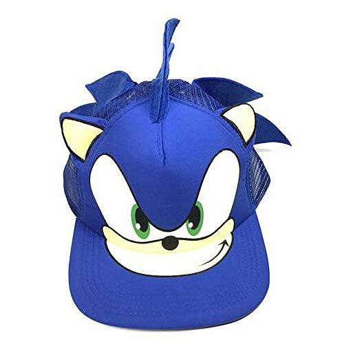 Aisoway Gorra De Béisbol Azul Linda del Muchacho del Sombrero De Dibujos Animados Erizo Youth Malla Ajustable