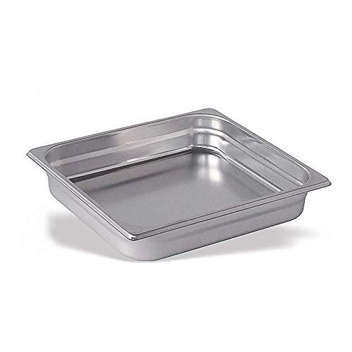 Cubeta Acero Inoxidable GN Gastronorm 2/3 (60 mm) | Bandeja Alimentos a Granel (Profundidad 60mm) (Espesor 0,7mm) (Dimensiones 325x353mm) | Alimentos Fríos y Calientes